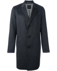 Theory - Reversible Single Breasted Coat - Lyst