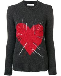Giada Benincasa - Heart Intarsia Jumper - Lyst