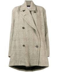 Vivienne Westwood - Checked Double Breasted Swing Coat - Lyst