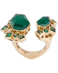 Stephen Webster - 'crystal Haze' Emerald And Diamond Ring - Lyst