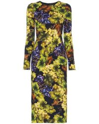 1eda0bdaa76f Dolce & Gabbana Lemon-print Silk-chiffon Mini Dress in Yellow - Lyst
