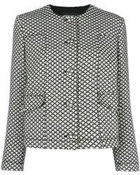 Emporio Armani - Diamond Pattern Jacket - Lyst