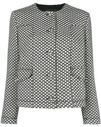 Emporio Armani - Diamond Pattern Jacket - Lyst
