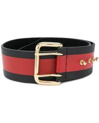 B-Low The Belt - Striped Buckle Fastened Belt - Lyst