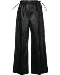 Nude - Cropped Wide Leg Trousers - Lyst