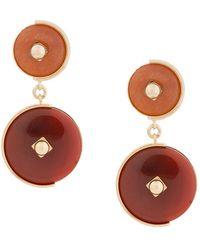 Crystalline - Clip-on Stone Earrings - Lyst