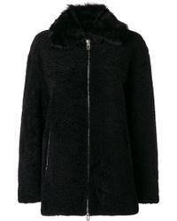 DROMe - Zipped Shearling Coat - Lyst