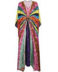 Mary Katrantzou | Silk Sequinned Striped Kaftan | Lyst