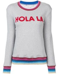 Trina Turk - Applique Embellished Hem Sweatshirt - Lyst