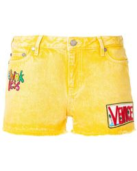 Mira Mikati - Patch Embroidered Shorts - Lyst