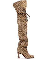 Gucci - Botas Original GG por encima de la rodilla - Lyst