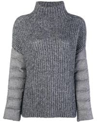 Herno - Padded Sleeve Jumper - Lyst