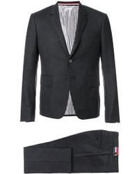 Thom Browne - High Armhole Suit With Tie And Low Rise Skinny Trouser In Super 120's Twill - Lyst