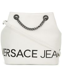 Lyst - Versace Jeans Front Logo Crossbody Bag in Black 0a93c80a13
