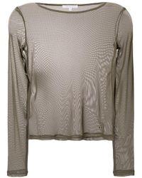 Patrizia Pepe - Transparent Shirt - Lyst
