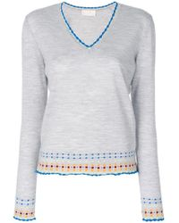 Peter Pilotto - V-neck Embroidered Sweater - Lyst