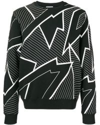 Les Hommes - Printed Crewneck Sweater - Lyst