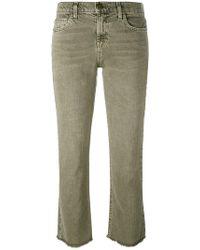 Current/Elliott - Frayed Kick Flare Jeans - Lyst