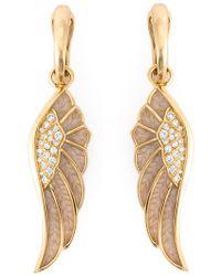 Garrard | Diamond Detail Wing Earrings | Lyst