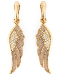 Garrard - Diamond Detail Wing Earrings - Lyst