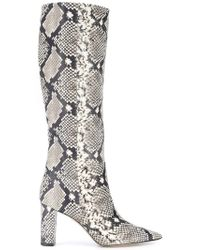 be812e9f9fd0 Lyst - Giuseppe Zanotti Animal-Print Calf-Hair Ankle Boots in Natural
