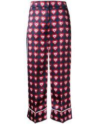 Fendi | Heart Print Pyjama Trousers | Lyst