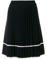 Chinti & Parker - Stripe Pleated Skirt - Lyst