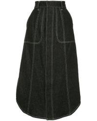 G.v.g.v - Flared Midi Skirt - Lyst