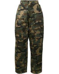 Hood By Air - Pantalones con estampado de camuflaje - Lyst