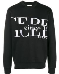 Iceberg - Logo Embroidered Sweatshirt - Lyst