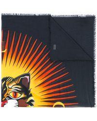 842820f0d5d Lyst - Gucci Black Cat Print Pocket Square in Black for Men