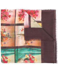 Stella McCartney - Floral Print Scarf - Lyst