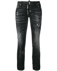 DSquared² - Runway Cropped Jeans - Lyst