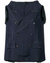 Maison Margiela - Long Mohair And Wool Jacket - Lyst