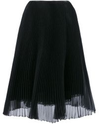 Prada - Organza Plissé A-line Skirt - Lyst