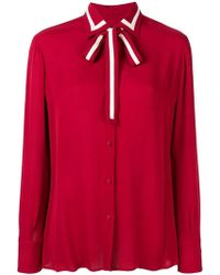Valentino - Pussybow Blouse - Lyst