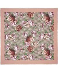 Gucci - Modal Silk Blooms Print Shawl - Lyst