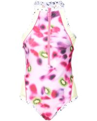 PUMA - Gradient Zipped Swimsuit - Lyst