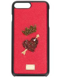 Dolce & Gabbana - Coque d'iPhone 8 Plus à appliqué - Lyst