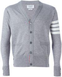 Thom Browne - Striped Sleeve Cardigan - Lyst