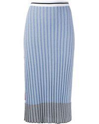 Mrz Ribbed Midi Skirt