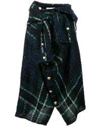 Faith Connexion - Asymmetric Check Wrap Shirt Skirt - Lyst
