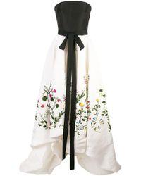 Oscar de la Renta - Robe longue Botanical Garden - Lyst