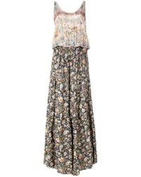 Black Coral - Floral Flared Jumpsuit - Lyst