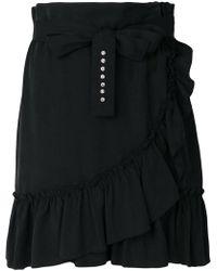 Liu Jo - Frill Wrap Short Skirt - Lyst