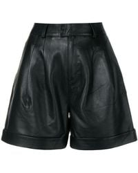 Karl Lagerfeld - Leather Shorts - Lyst