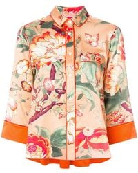 F.R.S For Restless Sleepers - Floral Embroidered Blouse - Lyst