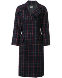 Alberto Biani - Plaid Concealed Button Coat - Lyst