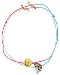 Venessa Arizaga - 'rainbow Smile' Bracelet Set - Lyst