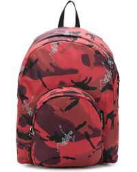 Alexander McQueen - Small Skeleton Camouflage Backpack - Lyst